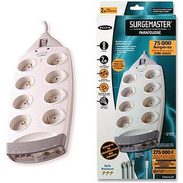 Belkin SurgeMaster série Maximum - Bloc parafoudre (8 prises secteur + 2 prises téléphone + 1 prise antenne)