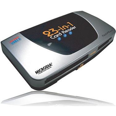 MICRODIA Lecteur de cartes 23-en-1 sur port USB 2.0