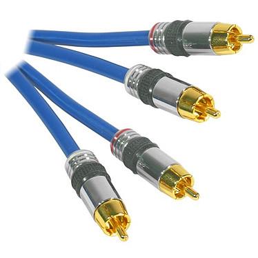 Câble RCA audio HQ-Pro Or mâle/mâle (2 mètres)