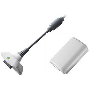 Microsoft Xbox 360 Play and Charge Kit Blanc
