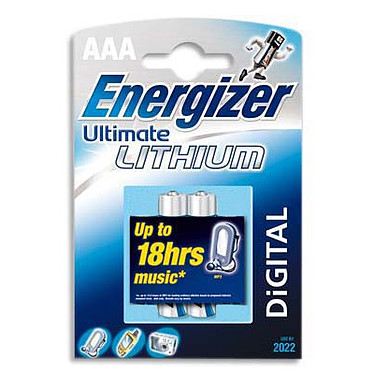 Energizer Ultimate Lithium 2 piles AAA LR03