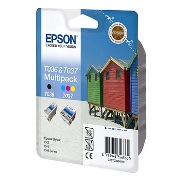 Epson T036/T037 Multipack (Lot de 2 cartouches - Noir/Couleur)
