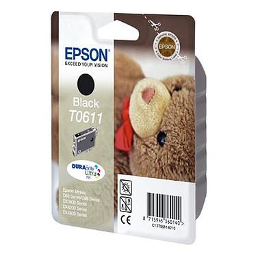 Epson T0611 Epson T0611 - Cartouche d'encre noire (250 pages à 5 %)