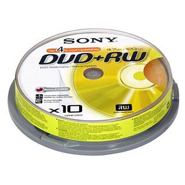 Sony DVD+RW 4.7 Go 4x (par 10, spindle)