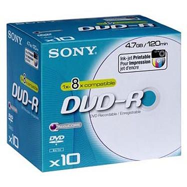 Sony DVD-R 4.7 Go 8x imprimable (par 10, boite)