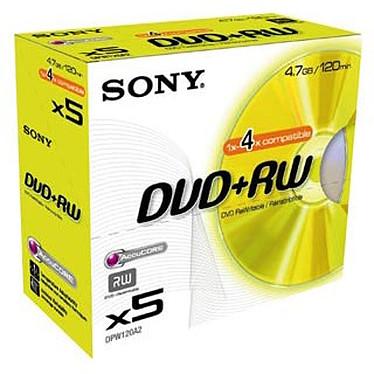 Sony DVD+RW 4.7 Go 4x (par 5, boite)