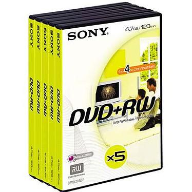 Sony DVD+RW 4.7 Go 4x (par 5, boite DVD)