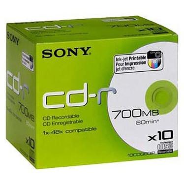 Sony CD-R 700 Mo 48x imprimable (boite de 10)