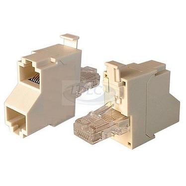Eclateur de paires RJ45 catégorie 5e Mâle/Femelle-Femelle (monobloc)