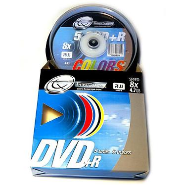Tx DVD+R 4.7 Go Certifié 8x Couleur (pack de 5, spindle)