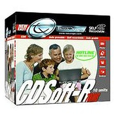 Tx CD Soft-R 700 Mo (pack de 10, boîtier slim)