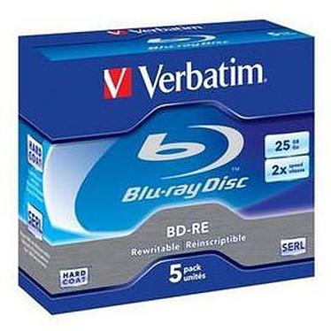 Verbatim BD-RE 25 GB 2x (por 5, caja) Verbatim BD-RE 25 GB certificado 2x (pack de 5, caja estándar)