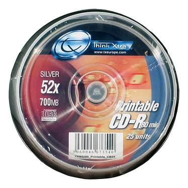 Tx CD-R 700 Mo Certifié 52x Imprimable (pack de 25, spindle)