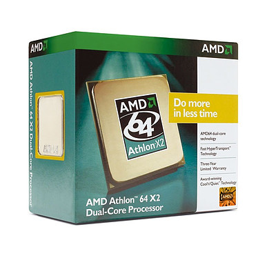 AMD Athlon 64 X2 Dual-Core 5200+ ADO5200CZBOX AMD Athlon 64 X2 Dual-Core 5200+  Socket AM2 0.09 micron (version boîte - garantie constructeur 3 ans)