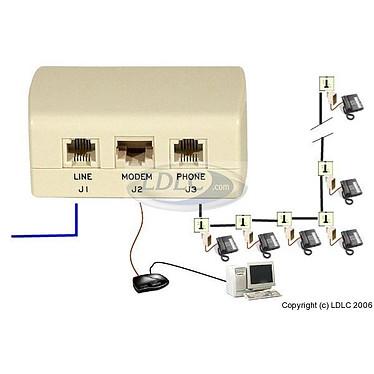 Filtro ADSL maestro (Francia) Filtro ADSL maestro (Francia)