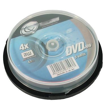 Tx DVD+RW 4.7 Go 4x (par 5, spindle) Tx DVD+RW 4.7 Go certifié 4x (pack de 5, spindle)