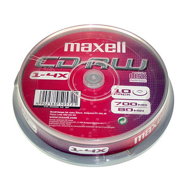 Maxell CD-RW (pack de 10, Spindle)