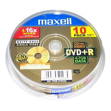 Maxell DVD+R 4.7 Go Certifié 16x (pack de 10, spindle)