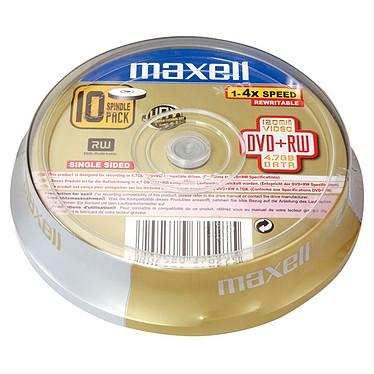 Maxell DVD+RW 4,7 Go (pack de 10, spindle)