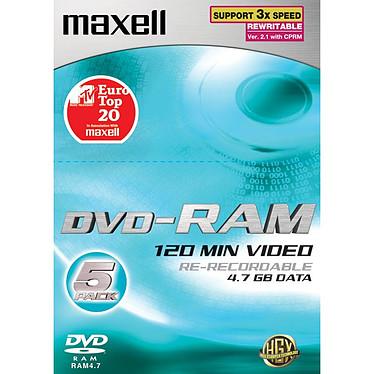 Maxell DVD-RAM 4,7 Go (pack de 5)