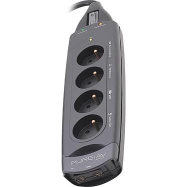Belkin PureAV - Bloc parafoudre pour home cinema (4 prises secteur + 1 prise antenne)