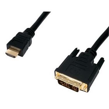 Câble DVI-D Single Link mâle / HDMI mâle (5 mètres) plaqué or Câble DVI-D Single Link mâle / HDMI mâle (5 mètres) plaqué or