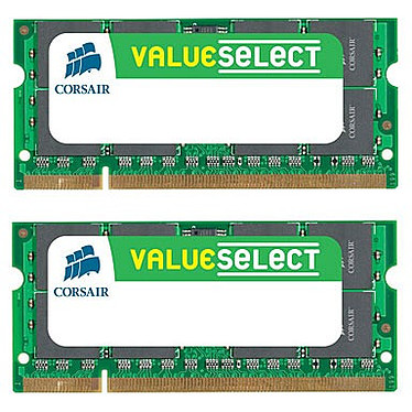 Corsair Value Select SO-DIMM 4 Go (2x 2 Go) DDR2 667 MHz CL5 Kit Dual Channel RAM SO-DIMM DDR2 PC5300 - VS4GSDSKIT667D2 (garantie 10 ans par Corsair)