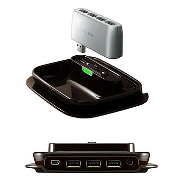 Belkin hub 2-en-1 (7 ports USB 2.0)