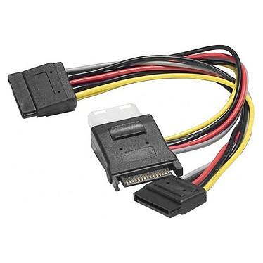 Adaptateur d'alimentation SATA vers 2 connecteurs d'alimentation SATA + 1 Molex