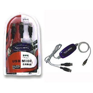 Câble MIDI USB Câble MIDI - USB