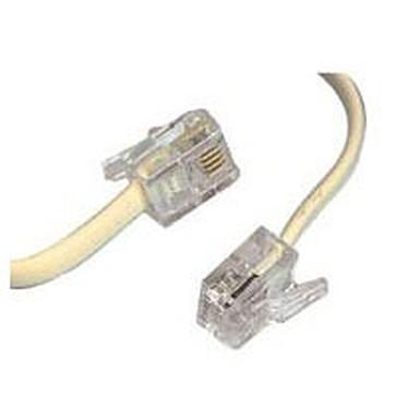 Câble RJ11 mâle/mâle (15 mètres) - (coloris beige)