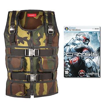 TN Games 3rd Space Vest - Veste de simulation d'impacts - Coloris camouflage (Taille S/M) + Jeu Crysis pour 1€ de plus !