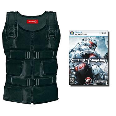TN Games 3rd Space Vest - Veste de simulation d'impacts - Coloris noir (Taille L/XL) + Jeu Crysis pour 1€ de plus !