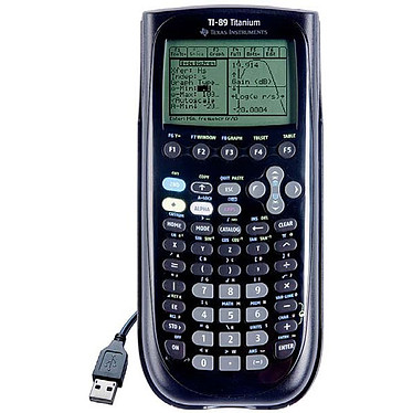 Texas Instruments TI-89 Titanium Calculatrice graphique avec 10 applications préinstallées et mémoire Flash 2.7 Mo