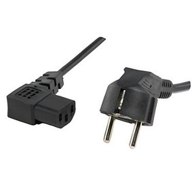 Câble d'alimentation coudé pour PC, moniteur et onduleur (1.8 m)