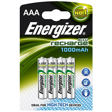 Energizer 4 piles AAA rechargeables 1000 mAh