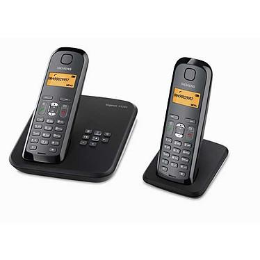 Siemens Gigaset AS285 Duo - Téléphone sans fil DECT avec répondeur intégré (coloris noir)
