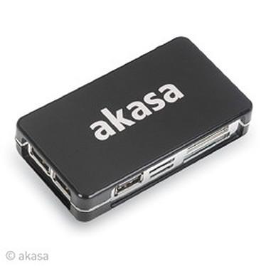 Akasa CONNECT9 Akasa AK-HC02-BK - Lecteur de cartes & Hub 3 ports USB 2.0 (coloris noir)