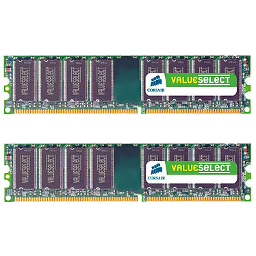 Corsair Value Select 4 Go (2x 2 Go) DDR2 800 MHz CL5