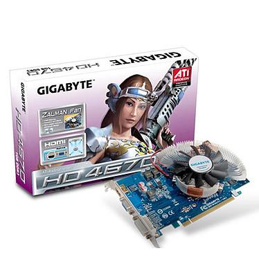 Gigabyte GV-R467ZL-1GI Gigabyte GV-R467ZL-1GI - 1 Go HDMI/DVI - PCI Express (ATI Radeon HD 4670)