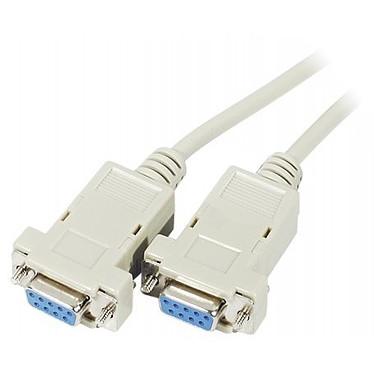 Câble DB9 Null Modem femelle / femelle (3 mètres)