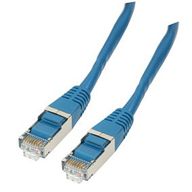 Câble RJ45 catégorie 6 F/UTP 0.5 m (Bleu)