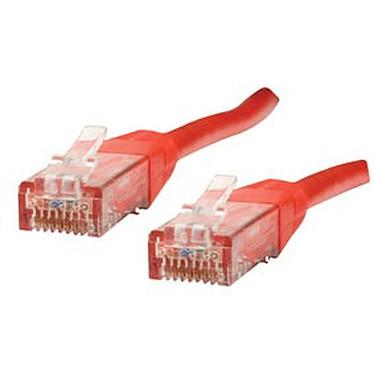 Cable RJ45 de categoría 6 U/UTP 0,5 m (rojo)