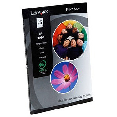 Lexmark Papier Photo A4 (25 feuilles)
