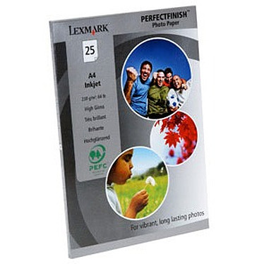 Lexmark Papier Photo PerfectFinish A4 (25 feuilles)