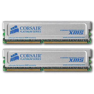 Corsair XMS Platinum Series 2 Go (2x 1 Go) DDR 400 MHz CL3