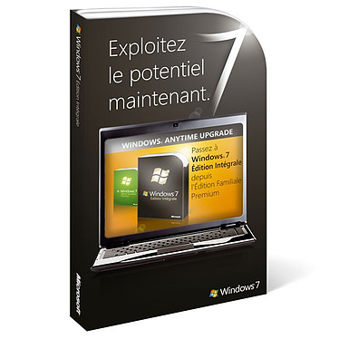 Microsoft Windows 7 Edition Intégrale - Mise à jour depuis Windows 7 Premium Microsoft Windows 7 Edition Intégrale - Mise à jour depuis Windows 7 Premium (français)