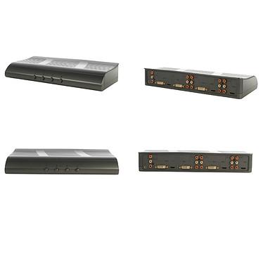 Commutateur DVI/HDMI avec entrées audio