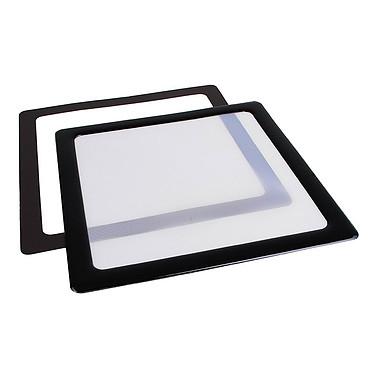 Filtre à poussière magnétique carré 140 mm (cadre noir, filtre blanc)