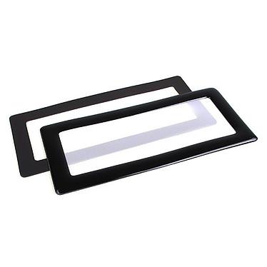 Filtre à poussière magnétique rectangulaire 2x 40 mm (cadre noir, filtre blanc)